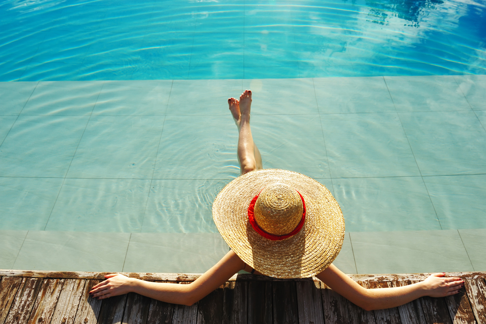 Erholung am Pool